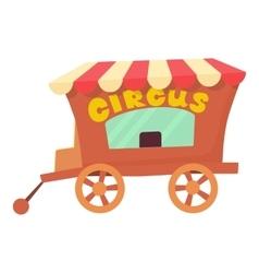 Circus wagon icon cartoon style vector