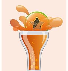 citrus juice vector image