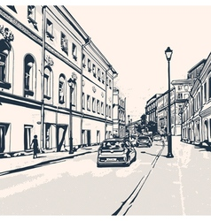City street vector image