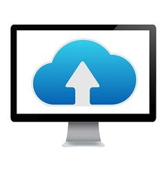 Cloud Computing Icon In Computer vector image
