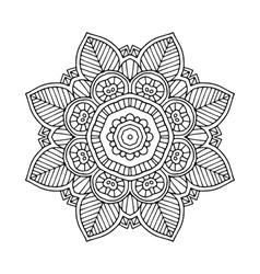 colored floral mandala vector image