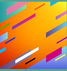 colorful geometric background with dynamic shapes vector image
