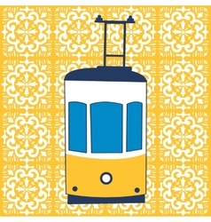 Colorful of traditional Lisbon tram vector