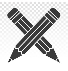 Crossed on pencil flat icon for apps vector