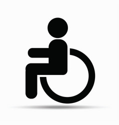 disability sign on white background vector image