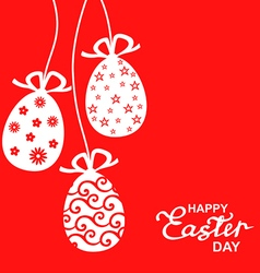 Easter lace red vector
