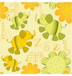 elephant garden pattern vector image