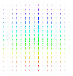 exclamation sign shape halftone spectral grid vector image