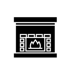 Fireplace - hearth icon vector