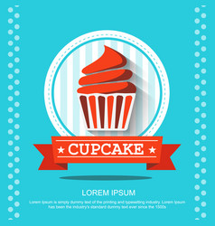 flat cupcakes vector image