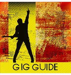 Gig Guide vector image