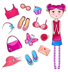 girls world vector image