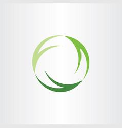 Green symbol recycle logo ecology sign icon design vector