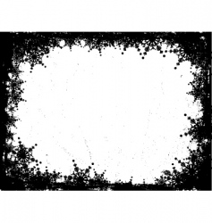 grunge snowflakes vector image