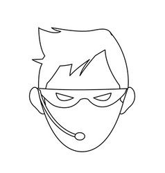 hacker representation icon image vector image