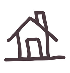 hand drawing silhouette house icon vector image