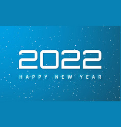 Happy new year 2022 cover template of business vector