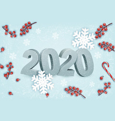 happy new year background with a 2020 vector image