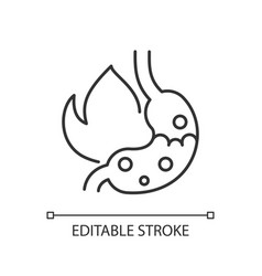 Heartburn linear icon vector