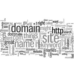 How to pick a domain vector
