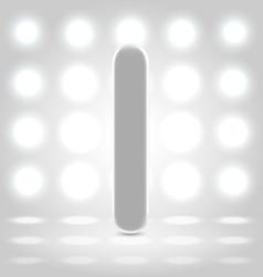 I over lighted background vector