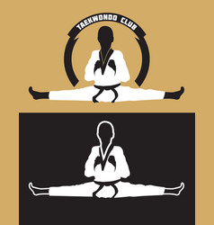 karate club logo vector image