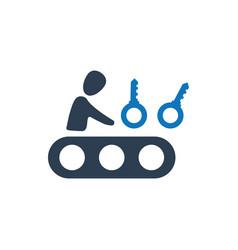 Keyword generator icon vector