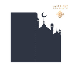 Laser cut islamic pattern vector