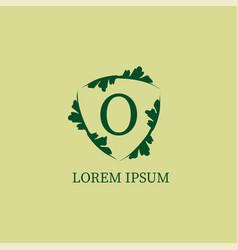 Letter o alphabetic logo design template vector