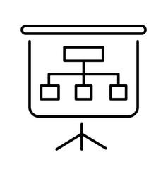 Linear presentation billboard icon vector