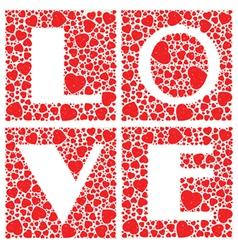 Love Heart Shaped vector image