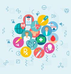 Medical health care web banner concept flyer vector