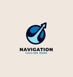 navigation travel logo template vector image