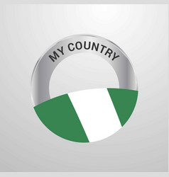 nigeria my country flag badge vector image