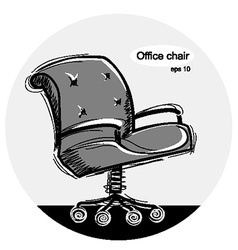 Office chair black sketchy vector image