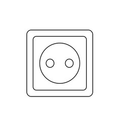 Ouline electric outlet symbol power socket vector