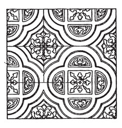 Painting pattern is a 13th century design vintage vector