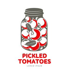 pickles glass jar flat vector image