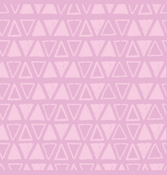 pink tribal triangles repeat pattern design vector image