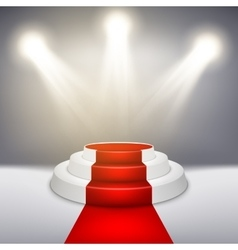 Podium with red carpet EPS 10 vector image