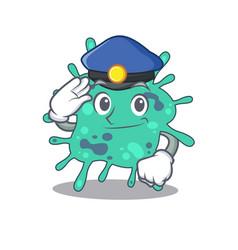 Police officer mascot design shigella boydii vector