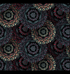 psychedelic mandala seamless pattern vector image