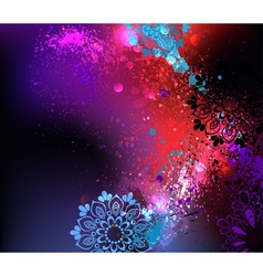 Purple Background Holi vector image