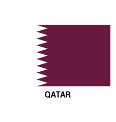 qatar flag design vector image