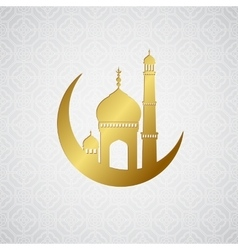 Ramadan greetings card background vector