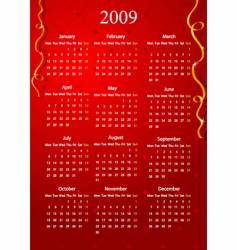 red calendar vector image