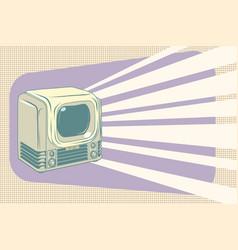 retro television vintage vector image