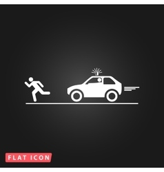 robber and police car vector image