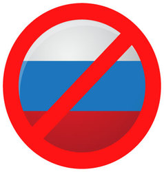 Russian ban icon isolated vector image