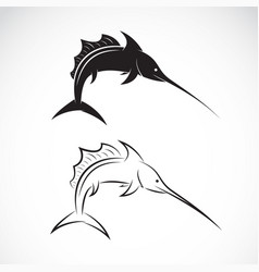 Sailfish design on white background sea animal vector